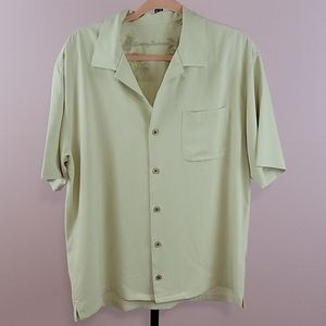 Tommy Bahama 100% silk cream colored button down
